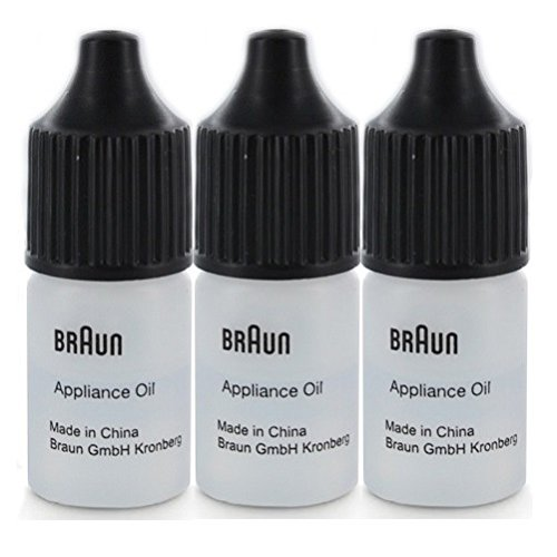 Braun Electric Shaver 7002000 Lubricating Appliance Oil approx. 7ml (3 x 7ml Bottle)