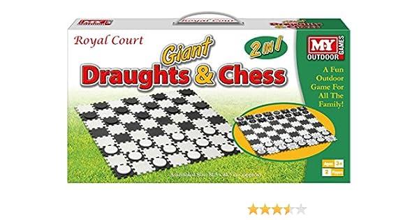 KandyToys Juego de ajedrez y borradores Gigantes Impermeables para jardín: Amazon.es: Juguetes y juegos