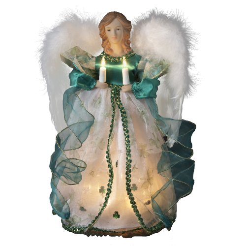 Kurt Adler UL 10-Light Angel Treetop Figurine, 12-Inch,