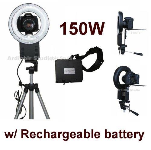 Camera 150W Macro Ring Light for Canon EOS 450D, 1000D, 550D, 400D, 500D, 350D, Xsi, T1i, T2i, Xti, XS, XT, 50D, 40D, 10D, 20D, 7D, 5D Mark II, 1D Mark II, III, IV, 1Ds by Ardinbir Studio