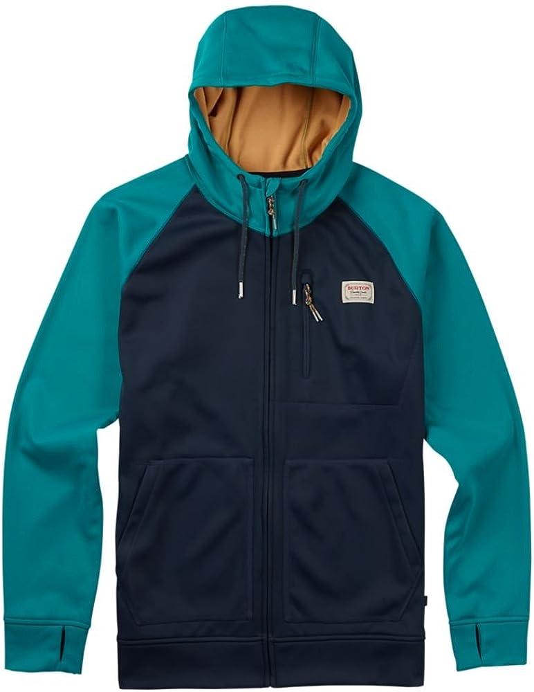 Burton Herren Crown Bonded Full Zip Hoodie Sweatshirt Eclipse/Fanfare