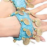 BellyLady Belly Dance Wrist Ankle Cuffs Bracelets, Halloween Costume Accessory LAKEBLUE