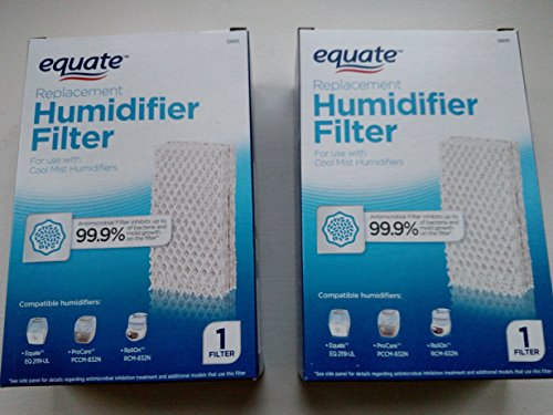 - 2-Pack Equate Replacement Humidifier Filter PCWF813 For Use With Pro Care Cool Mist Humidifiers Fits Models: ProCare PCCM-832N / AC813, Relion RCM-832N, Robitussin, Duracraft, Sesame Street
