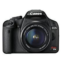 Canon EOS Rebel T1i 15.1 MP CMOS Digital SLR Camera with 3-Inch LCD and EF-S 18-55mm f/3.5-5.6 IS Lens (OLD MODEL)