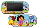 Dora the Explorer Purple Backpack Boots Spanish Video Game Vinyl Decal Skin Sticker Cover for Sony PSP Playstation Portable Original Fat 1000 Series System