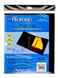 Itoya Multi-Ring Mounting Boards 8 1/2 in. x 11 in. vertical pack of 10