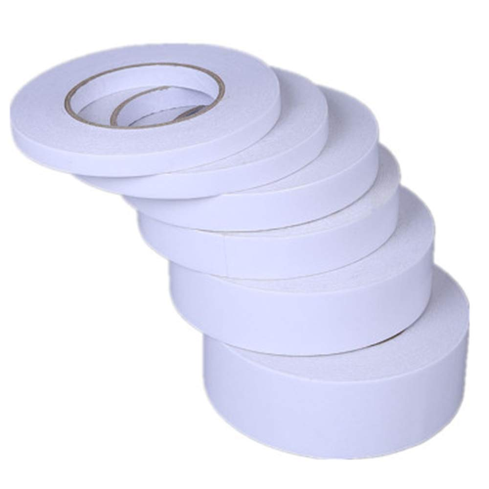 2.4CM X 50M White Double Sided Tape 8 Rolls Adhesive Tape for Arts, Crafts, Card Making, Office School Stationery Supplies,Diamond Painting Canvas Repair by CRPSEN
