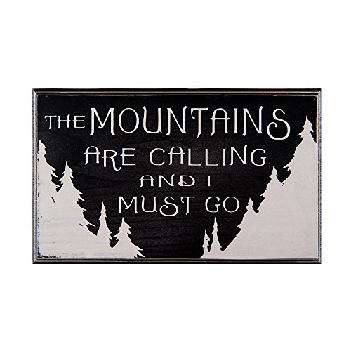 The Mountains Are Calling And I Must Go Wood Sign For Wall Decor Or Gift    Perfect For Vacation Home