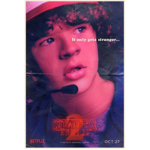 Stranger Things Gaten Matarazzo as Dustin 'It Only Gets Stranger… ' 8 x 10 Inch Photo