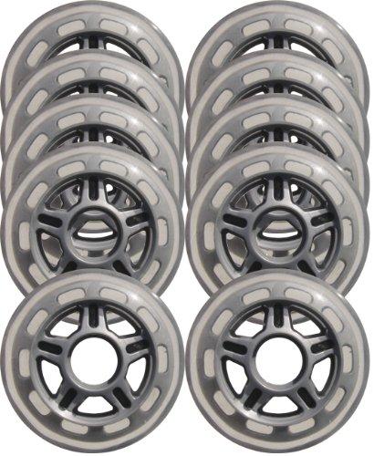 KSS Inline Skate 78A Wheels (10 Pack) with 5-Spoke hub, 80mm, (Hub In Line Skate Wheels)