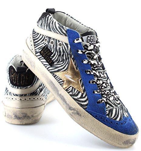 Gouden Gans Damen Schuhe Sneakers Mid / Ster G26d250d2 Ijs Zebra Gouden Ster Italië