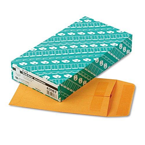 Quality Park 43167 Redi-Seal Envelope, Plain, 28Lb, 6-Inch x9-Inch, 100/BX, Kraft