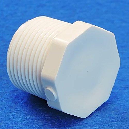 Schedule 40 PVC Pipe MIPT Plug (1 1/2