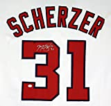 Max Scherzer Washington Nationals Signed Autographed White #31 Custom Jersey PAAS COA