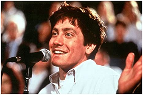 Donnie Darko Jake Gyllenhaal As Donnie Speaking Into Microphone 8 X 10 Inch Photo At Amazon S Entertainment Collectibles Store