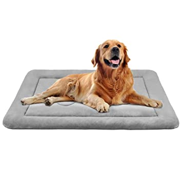 db78610cf969 JoicyCo Dog Bed Large Crate Mat 42 in Anti-Slip Washable Soft Mattress  Kennel Pads