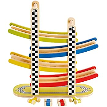 Hape Switchback Racetrack Kid S Wooden Car Racing Toy