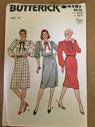 Butterick Pattern 4157 Misses' Size 14 Dress with bib ()