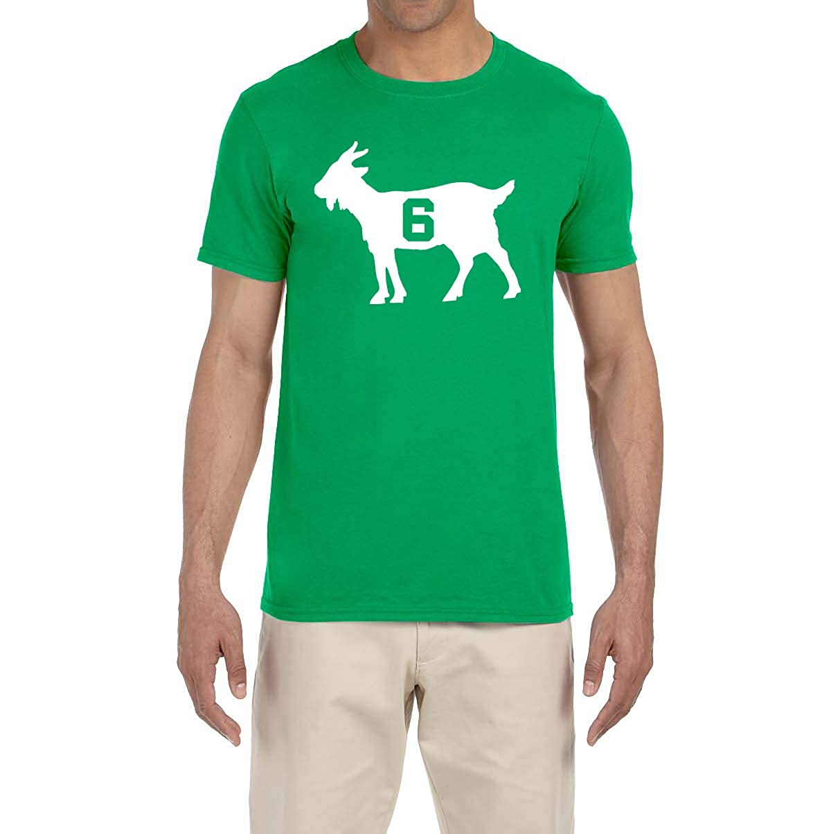 Peg Leg Shirts GREEN Boston Russell Goat T-Shirt