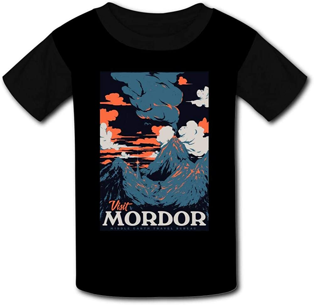 Knwazz Kids T-Shirts Visit Mordor Cool 3D Printed Short Sleeve Top Tees for Boys Girls