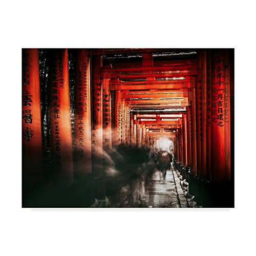 Trademark Fine Art 1X04605-C2432GG Canvas Wall Art Fushimi Inari Shrine by Carmine Chiriaco, 24 x 32