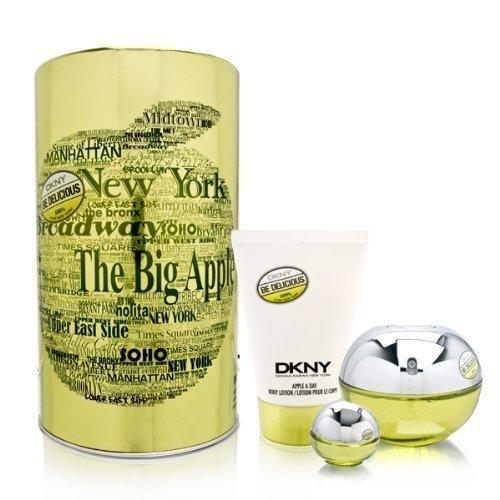 Dkny Be Delicious Gift Set 3 Pcs. [3.4 oz. Eau De Parfum Spray + 3.4 Oz. Body Lotion + 7Ml Edp Miniature Women