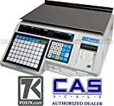 CAS LP1000N Label Printing Scale, 30lbs Capacity, 0.01lbs Readability