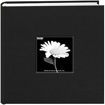 Fabric Frame Cover Photo Album 200 Pockets Hold 4x6 Photos, Deep Black