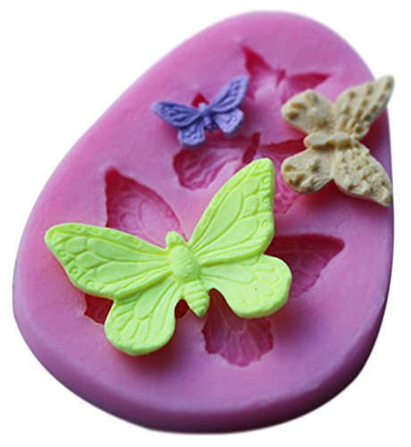 Bleumoo diy silicone 3d butterfly cake decorating mold sugarcraft