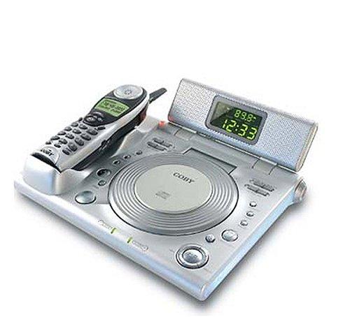 (COBY CD-RA 195 AM/FM Alarm Clock Radio w/CD Player & 2.4 GHz Cordless)