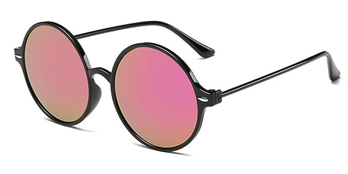 KINDOYO Gafas de sol retro para mujer, gafas de sol redondas, gafas reflectantes, protección UV400, gafas de sol no polarizadas: Amazon.es: Ropa y ...