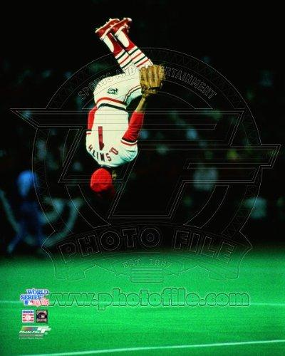 Ozzie Smith St. Louis Cardinals Game 5 1985 World Series Photo 8x10 ()