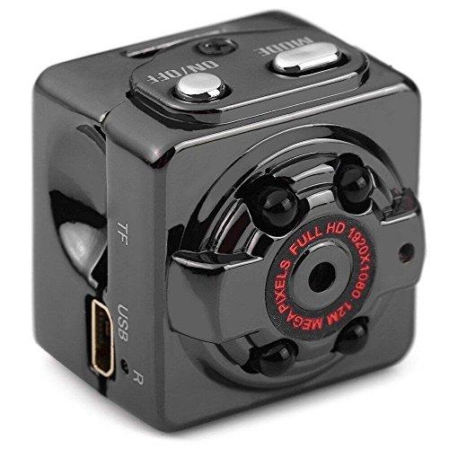 BINDEN iTech Mini Camara Espia 1080p/720p con Bateria Recargable de 200 mAh, Soporta Micro SD de hasta 32GB, Deteccion de...