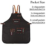 JEXICASE Tool Aprons for Men, Durable Canvas Work