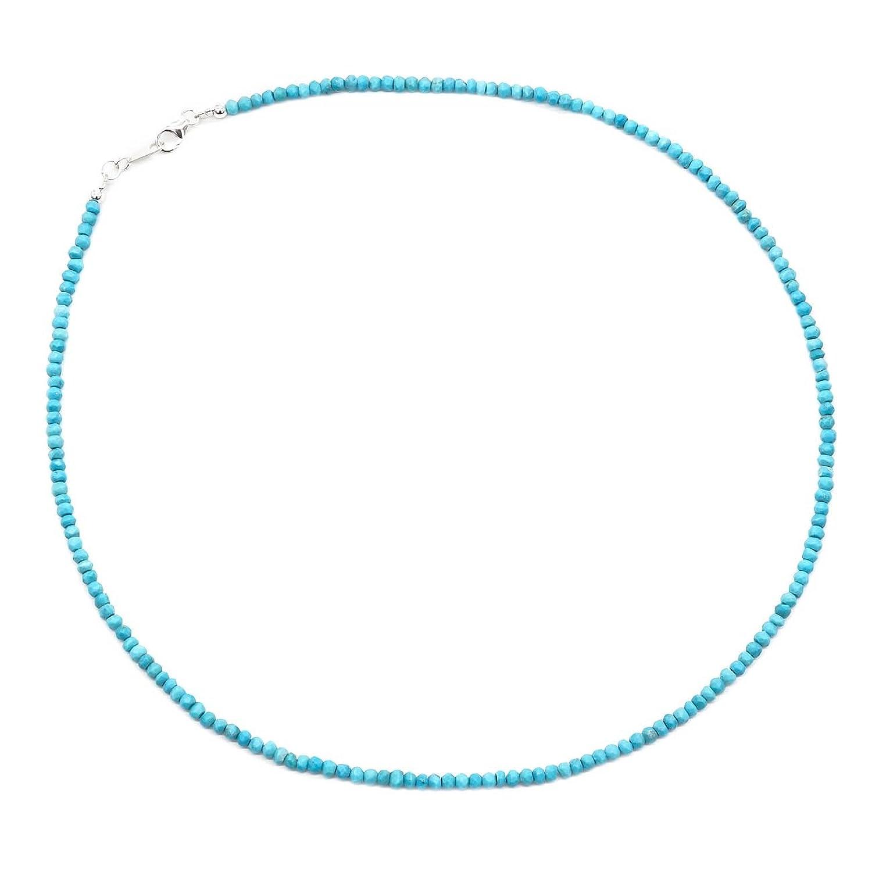 ジナブリング (JINA BRING) ネックレス 天然ターコイズアリゾナ産スリーピングビューティー ターコイズ パワーストーン シルバー925 45cm B06WGN69PQ 45cm