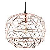 Light Society Caffrey Geometric Pendant Light, Rose Gold, Modern Industrial Lighting Fixture (LS-C135)