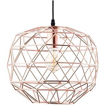 modern industrial lighting. Light Society Caffrey Geometric Pendant Light, Rose Gold, Modern Industrial Lighting Fixture (LS