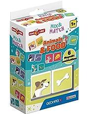Geomag Magicube Mix & Match zwierzęta i żywność – 2 kostki – zestaw do budowania z magnetycznymi kostkami