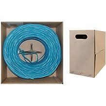 C&E CNE61099 1000-Feet Cat5E 24AWG 4PR Stranded Ethernet Cable, Blue