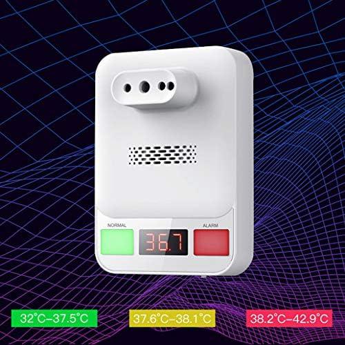 ZJM Infrarosso Senza Contatto Termometro, A Parete Temperatura Termometro Digitale 0.5S Test Rapido con Febbre Allarme Vocale Broadcast Funzione per società di Fabbrica