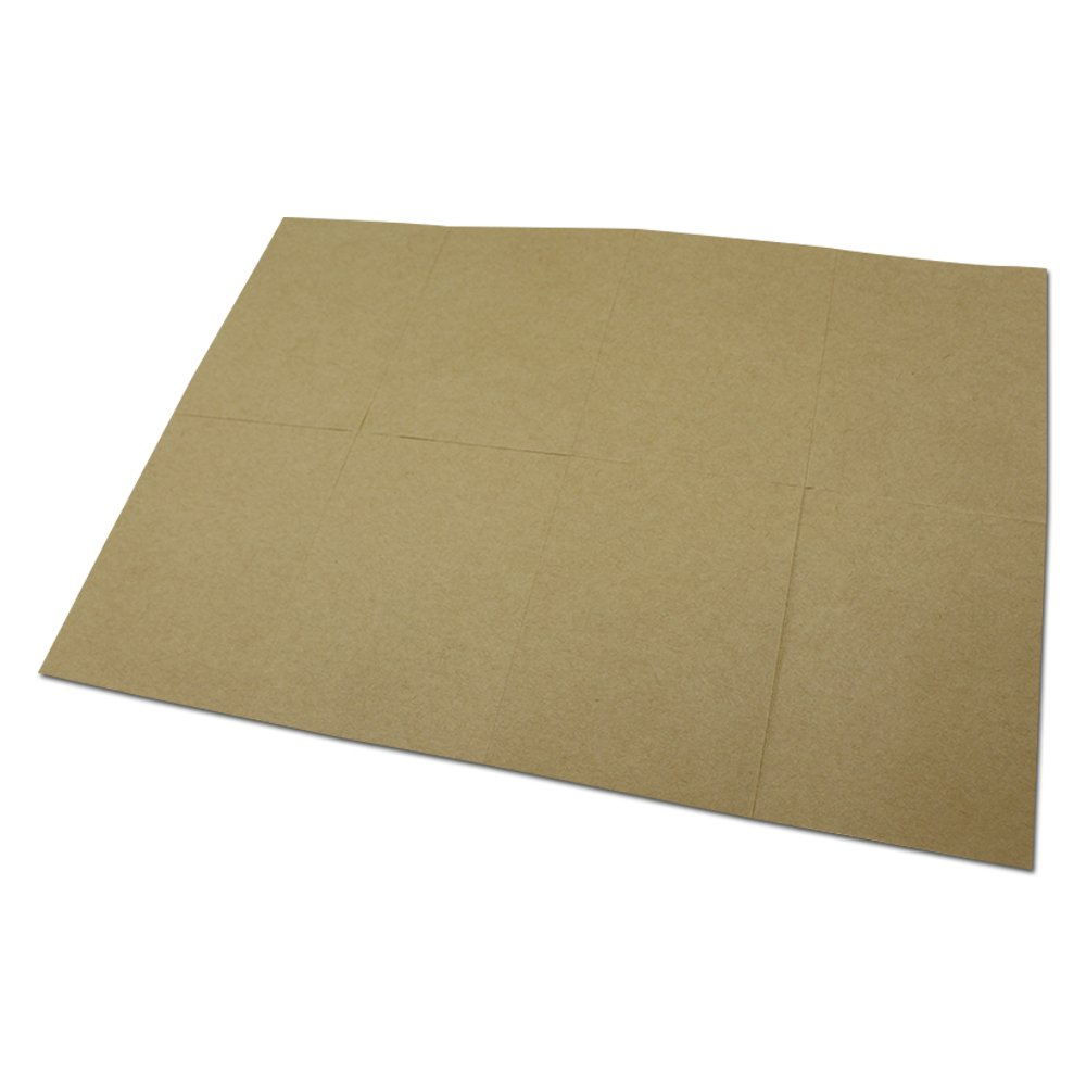 200Pcs A4 Blank Brown Kraft Sticker Paper Printable Self Adhesive Printing Writable Copy Label Stickers for Laser Inkjet Printer 10.5x7.425cm (4.1x2.9) FERENLI