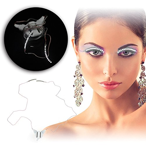 TBTeek LED Lashes Wearable electronic LED eyelashes with 5 Flashes effects for Party Halloween Christmas Bar Nightclub DJ Deco (The Greatest Bar Halloween)