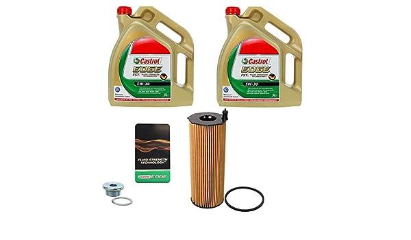 1x Filtro de aceite BOSCH + 10 L Castrol EDGE FST 5W-30 LONGLIFE AUDI A6 4F C6 3.0 TDI 04-11; A8 4E 3.0 4.2 TDI 03-10; VW PHAETON 3.0 TDI;: Amazon.es: Coche ...