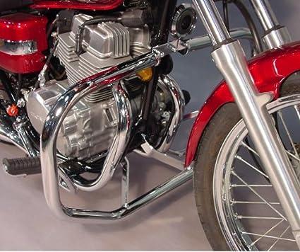 amazon com mc enterprises engine guard full size 1 1 4 chrome for rh amazon com 87 Honda Rebel 250 2004 honda rebel 250 manual