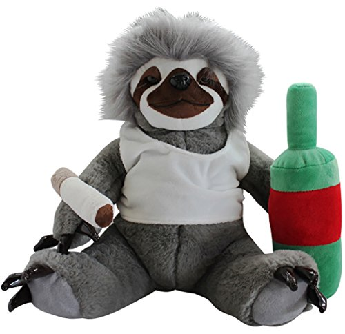 Moochie The Slacker Sloth – Lazy Sloth Plush Stuffed Animals for Adults  Funny Gag Gifts Weird ... a9699f12b7f0