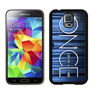 Durable Samsung Galaxy S5 Case Design with Once Upon A Time in Black