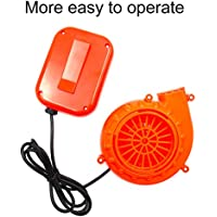 Mini Fan Blower Air Pump for Inflatable Costume Doll Mascot Head Perfect Inflatable Costume Fan Replacement by HEYMA (Fan Orange)