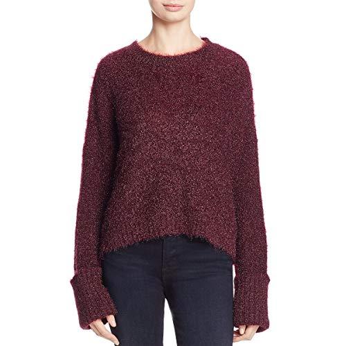 (Kenneth Cole Women's Large Cuff Crop Sweater, Port, XL)