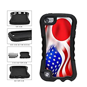 Japan and USA Mixed Flag 2-Piece Dual Layer Phone Case Back Cover Diy For SamSung Note 3 Case Cover Generation