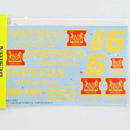 【TABU DESIGN/タブデザイン】1/12 ロータス TYPE 78 IMPERIAL